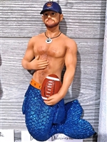 December Diamonds Chicago Football Fan Merman Christmas Ornament