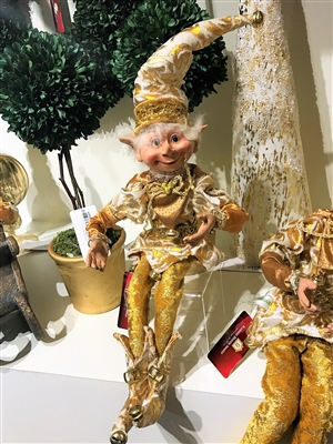 "Floridus Designs 20"" ""GLAMORZ"" Elf (Cream/Gold) FLO-XN400800"