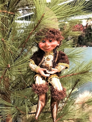 "Floridus 11"" BASIL"" Elf (Brown & Green)"
