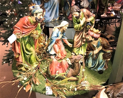 Gerson 23.5'' Magnesium Nativity (Set of 7)