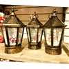 "GERSON 8.75""H B/O Lighted Musical Holiday Spinning Water Globe Lantern w/ Timer (SET OF 3)"