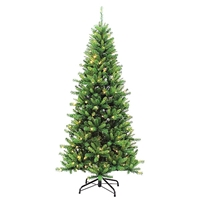 GERSON 7.5' LED Kingston Pine Christmas Tree