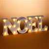 "GERSON 23.75''H B/O LED LIGHTED WHITE PLASTIC ""NOEL"" SIGN"