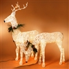 GERSON 72''H ELECTRIC LIGHTED GRAPEVINE DEER ON METAL FRAME (HEAD UP)  SOLD OUT