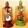GERSON 11''H B/O LIGHTED METAL & GLASS HOLIDAY LANTERN (SET OF 2)
