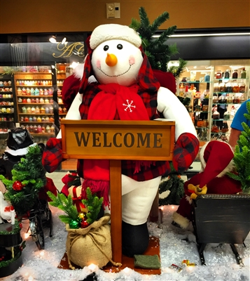 "Hanna's ""Welcome"" Snowman Stander HAN36150"
