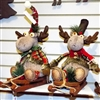 Hanna's Holly Plaid Moose Sled (Set of 2)