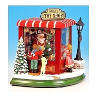 MUSICBOX KINGDOM LIGHTED MUSICAL SMALL TOY SHOP