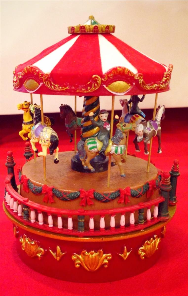 mr christmas world s fair mini carnival carousel
