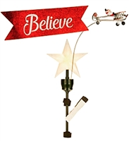 ANIMATED TREE TOPPER - BIPLANE **NEW** Item No. 49311