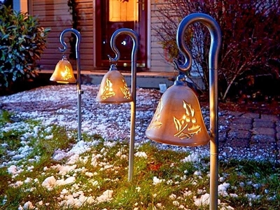 Mr Christmas Pathway Lighted Bells Silver Out Of Stock