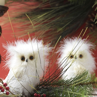 "RAZ IMPORTS 5.5"" FEATHERED WHITE OWLS (SET OF 12)) OUT OF STOCK"
