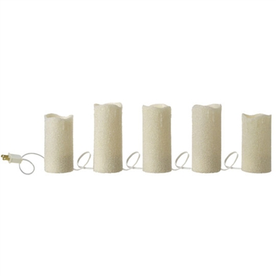 Raz Imports 120 Quot Lighted Beaded Pillar Candle Strand Out