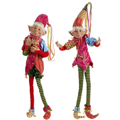 "RAZ IMPORTS 29"" POSABLE ELF (Set of 2) OUT OF STOCK"
