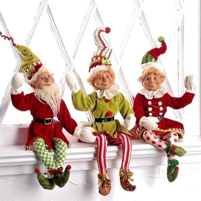 "RAZ IMPORTS 21"" POSABLE ELF (Set of 3) OUT OF STOCK NOT AVAILABLE"