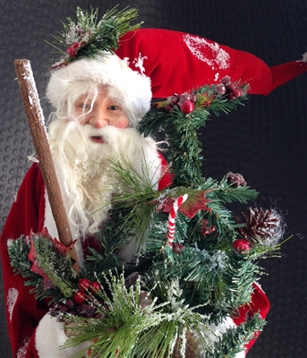 RAZ IMPORTS 36 INCH VELVET SANTA (SOLD OUT NOT AVAILABLE)