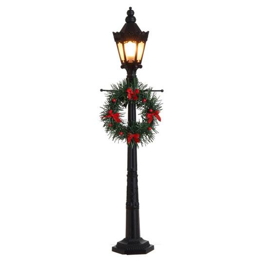 raz imports 24 lighted lamp post black