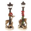 "RAZ IMPORTS 19.5"" LIGHTED LAMP POST WITH DEER (SET OF 2) SOLD OUT FOR SEASON"