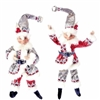 "RAZ IMPORTS 11"" POSABLE ELF (Set of 2) Silver Bells Collection"