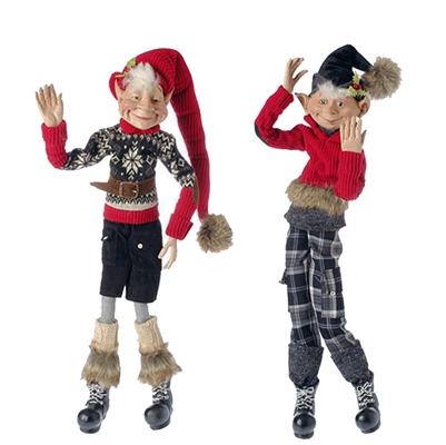 "RAZ IMPORTS 28.5"" POSABLE ELF (SET OF 2) AVAILABLE FALL 2016!"