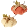 "RAZ IMPORTS 8"" PUMPKIN (SET OF 2)"