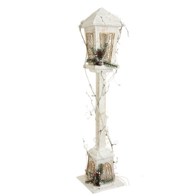 Raz Imports 31 5 Quot Lighted White Wood Lamp Post Out Of Stock
