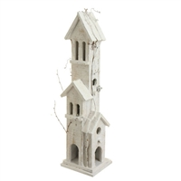 "RAZ IMPORTS 24"" LIGHTED WOOD BIRDHOUSE"