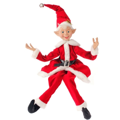 "RAZ IMPORTS 30"" POSABLE ELF Home For Christmas Collection"