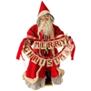 "RAZ IMPORTS 27"" RED ""MERRY CHRISTMAS"" SANTA"