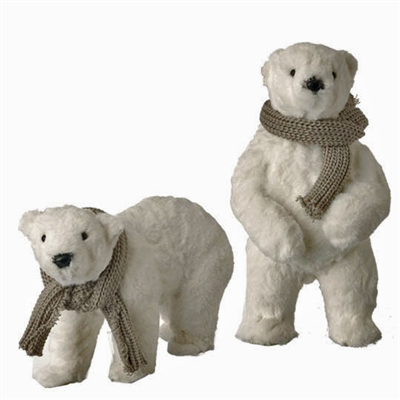 "RAZ IMPORTS 12.5"" POLAR BEAR (SET OF 2) SOLD OUT FOR THE SEASON!!!"
