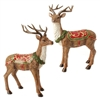 "RAZ IMPORTS 14"" GLITTERED DEER (SET OF 2)"