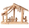 "RAZ IMPORTS 15"" WOODEN CRECHE MADE OF DRIFTWOOD FOR YOUR NATIVITY"