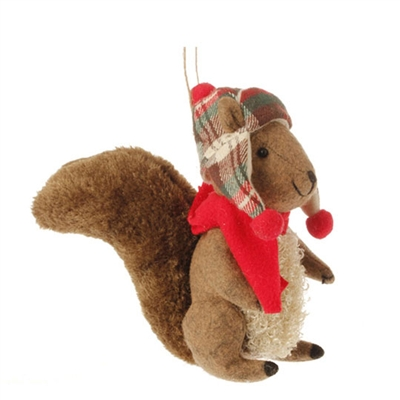 "RAZ IMPORTS 6"" SQUIRREL ORNAMENT (SET OF 2)"