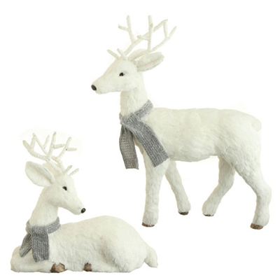 "RAZ IMPORTS 20"" DEER WHITE (SET OF 2)"