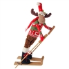 "RAZ IMPORTS 22"" POSABLE SKIING MOOSE"
