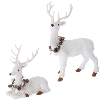 "RAZ IMPORTS 12.5"" DEER (Set of 2) SOLD OUT FOR SEASON"