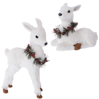 "RAZ IMPORTS 13.5"" DEER  (Set of 2)"