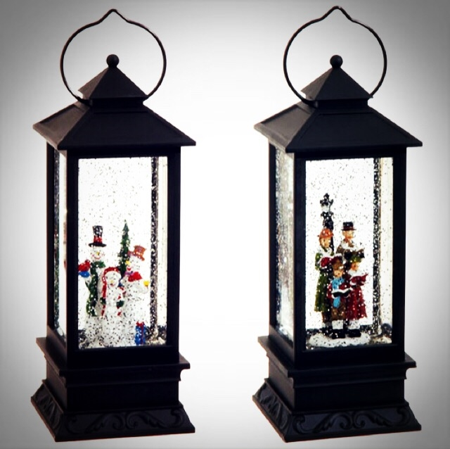 """Lighted Holographic Two Snowman Carolers Christmas Outdoor: RAZ IMPORTS 10.5"""" LIGHTED CAROLERS AND SNOWMEN WATER GLOBE"""
