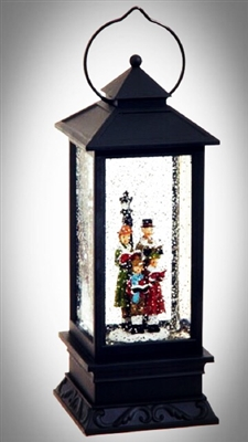 "RAZ IMPORTS 10.5"" LIGHTED CAROLERS WATER GLOBE LANTERN ***SOLD OUT***"