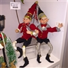 "RAZ IMPORTS 21"" POSABLE SKATING ELF (Set of 2)"