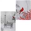 "RAZ IMPORTS 24"" LIGHTED CARDINAL PRINT (SET OF 2  out of stock for season)"