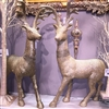 "RAZ IMPORTS 29"" GLITTERED DEER (SET OF 2)"