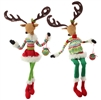 "RAZ IMPORTS 31.5"" POSABLE SITTING DEER (Set of 2)"