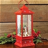 "RAZ IMPORTS 11"" LIGHTED SNOWMAN LANTERN WATER GLOBE  (SOLD OUT NOT AVAILABLE)"
