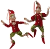 "RAZ IMPORTS 16"" POSABLE ELF ORNAMENT (SET OF 2)"