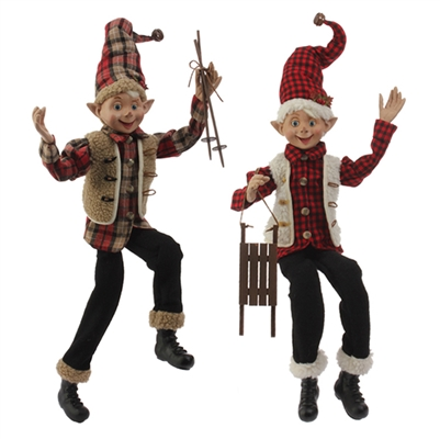 "RAZ IMPORTS 30"" POSABLE ELF (Set of 2)  sold out not availble"