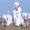 Raz Imports 16'' Polar Bear with Scarf (Set of 3)