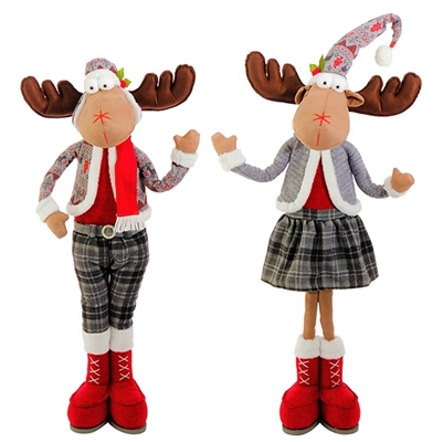 Raz Imports 32.5'' Standing Moose Couple (Set of 2)
