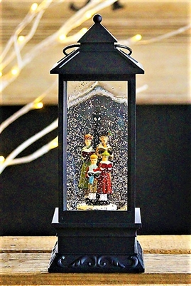Raz Imports Lighted Water Globe Lantern Victorian Carolers w/Timer  (NOT AVAILABLE OUT OF STOCK)