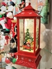 Raz Imports 11' Red Water Globe Red Lantern Snowman with Train (SOLD OUT NOT AVAILABLE)